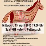 Plakat TTIP Pettenbach 15. April 2015